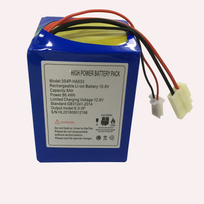 12V8.0Ah 10.8V (3S4P) Lithium-ion Battery Pack HA033 for Electric Scooter
